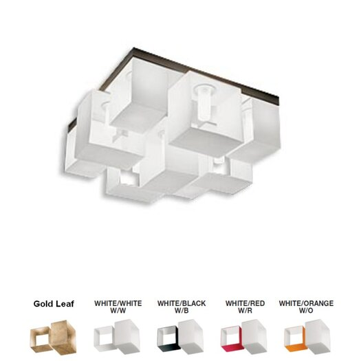 Zaneen Lighting Domino Nine Light Flush Mount