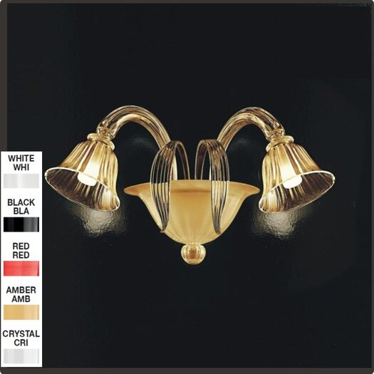 Zaneen Lighting D'Orsay 2 Light Wall Sconce