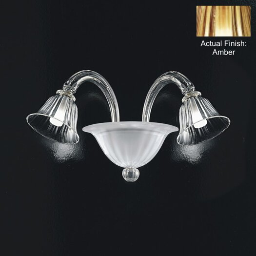 Zaneen Lighting Louvre 2 Light Wall Sconce