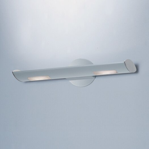 "Zaneen Lighting Ra 2"" Contemporary 2 Light Wall Sconce"