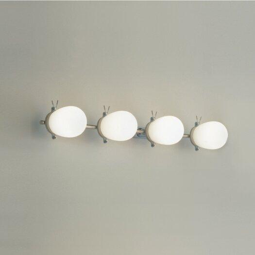 "Zaneen Lighting Bano 27"" 4 Light Contemporary Vanity Light"