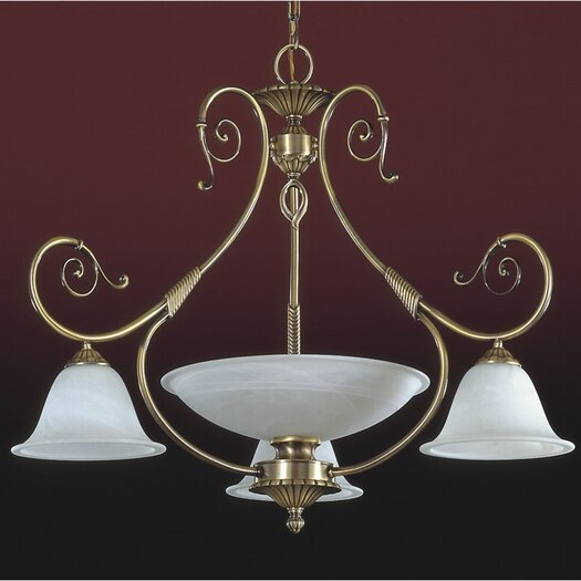 Zaneen Lighting Alava I Four Light Traditional Chandelier in English Bronze