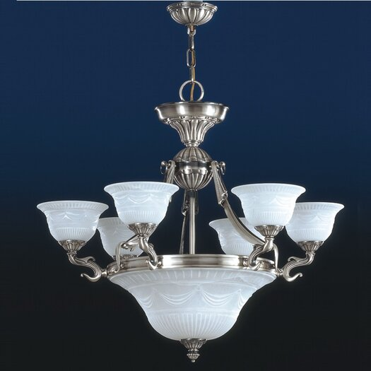 Zaneen Lighting Burgos I Traditional Chandelier in Silver Oxide
