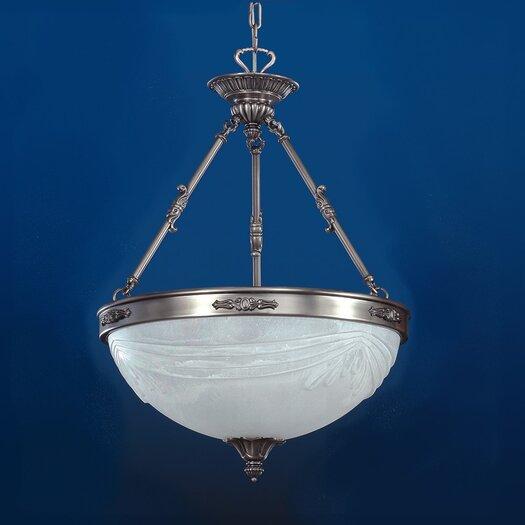 Zaneen Lighting Granada Traditional Pendant in Pewter