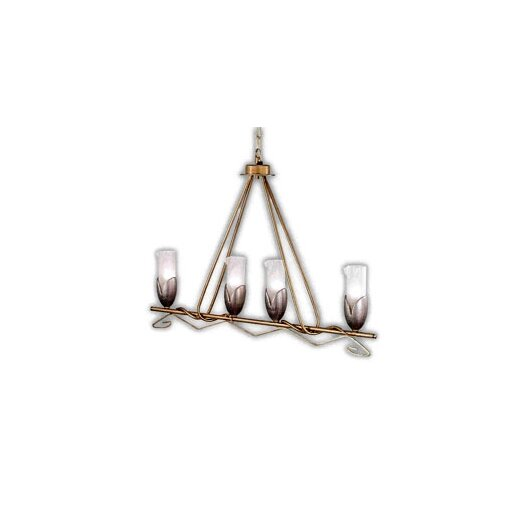 Zaneen Lighting Torino Four Light Pendant in Weathered Champagne