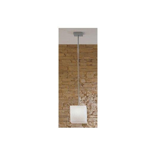 Zaneen Lighting Kubik Large Single Light Pendant in Gray Metal