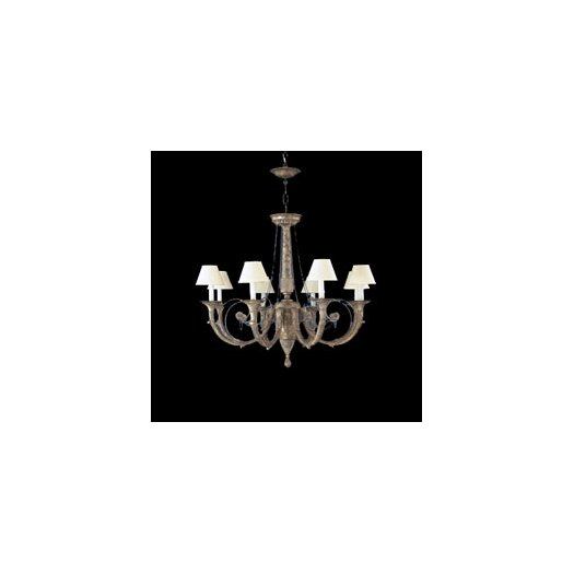 Zaneen Lighting Menorca Eight Light Traditional Chandelier in Ancient Silver