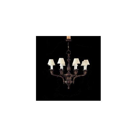 Zaneen Lighting Zamora Eight Light Traditional Chandelier in Aged Bronze