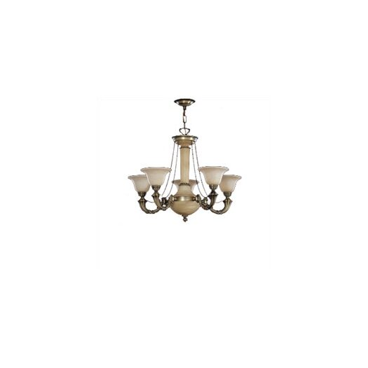 Zaneen Lighting Santos Five Light Traditional Chandelier in Dark English Bronze