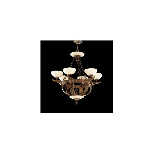 Zaneen Lighting Melilla Six Light Chandelier in Rustic Bronze