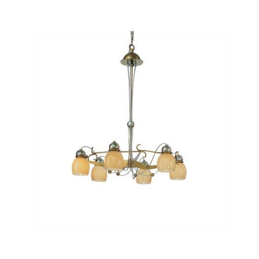 Zaneen Lighting Rimini Six Downward Light Chandelier in Vintage Gold