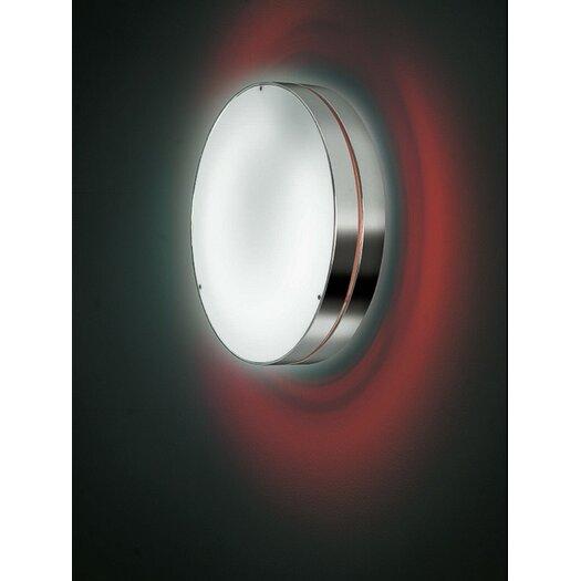 Zaneen Lighting Tamburo Two Light Flush Mount/Wall Light in Gray