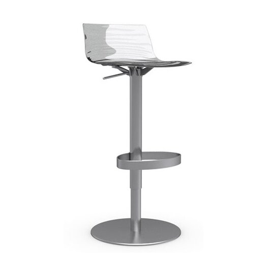 L'Eau Adjustable Height Swivel Bar Stool