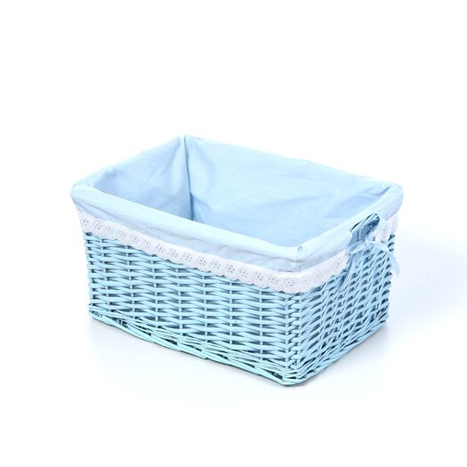 Badger Basket Wicker 3 Piece Basket Set with Liners