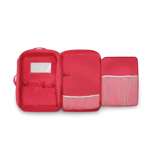 Badger Basket Double Doll Travel Case with Bunk Bed and Bedding in Dark Pink