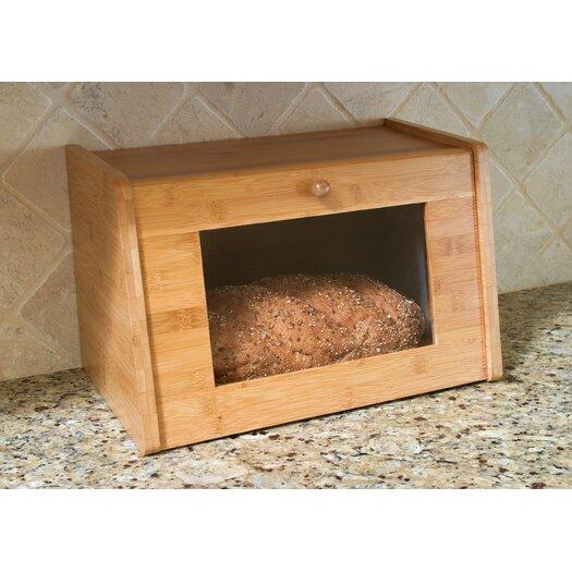 Lipper International Bread Box with Window Door