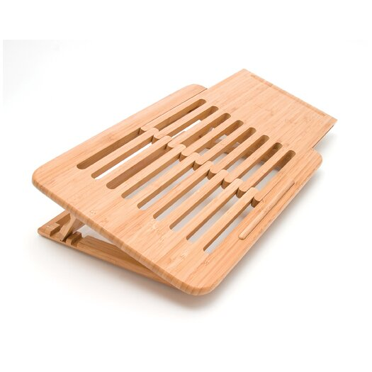 Lipper International Laptop Computer Tray / Holder Slatted
