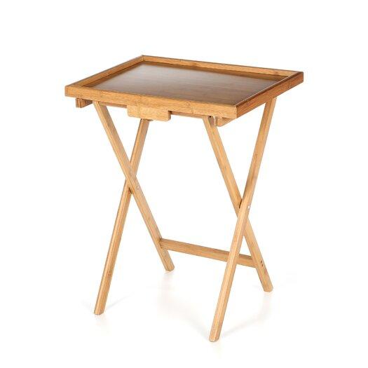 Lipper International Bamboo Folding TV Tray Table