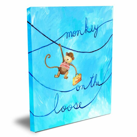 Cici Art Factory Words of Wisdom Monkey on The Loose Canvas Art