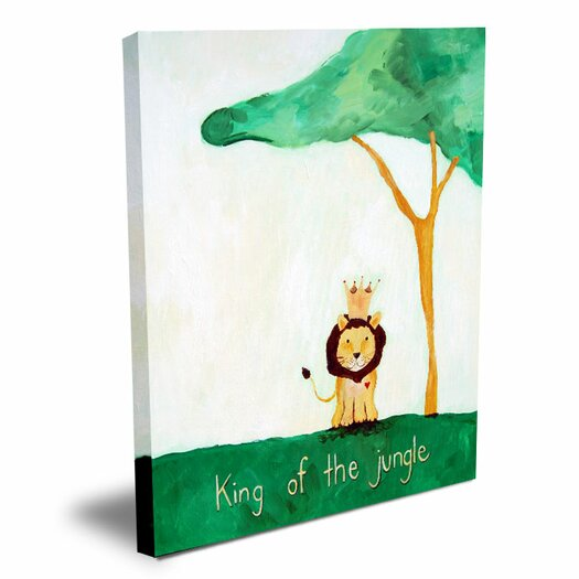 Cici Art Factory Words of Wisdom King of The Jungle Canvas Art