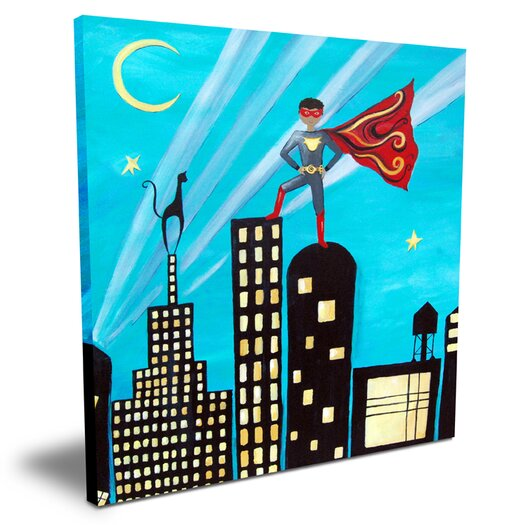 Cici Art Factory Wit & Whimsy African American Superhero Canvas Art