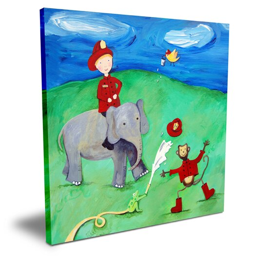 Cici Art Factory Wit & Whimsy Animal Fire Squad Canvas Art