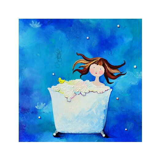 CiCi Art Factory Wit & Whimsy Bathtime Canvas Art