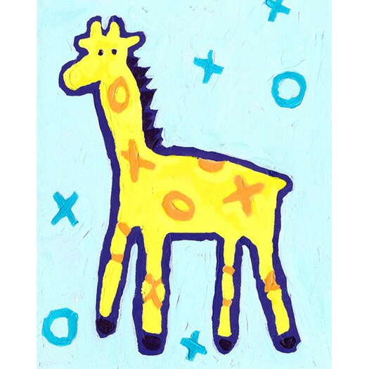 CiCi Art Factory X and O Giraffe Paper Print