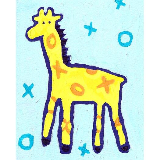 Cici Art Factory X and O Giraffe Paper Print