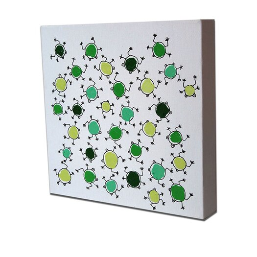 CiCi Art Factory Lotsa Random Frogs Original Canvas Art