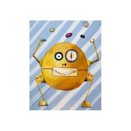Cici Art Factory Mitmit Loves Donuts Robot Canvas Art