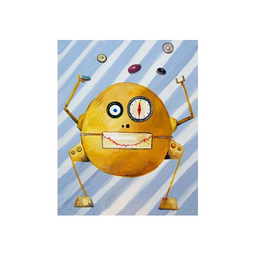Cici Art Factory Mitmit Loves Donuts Robot Canvas Art