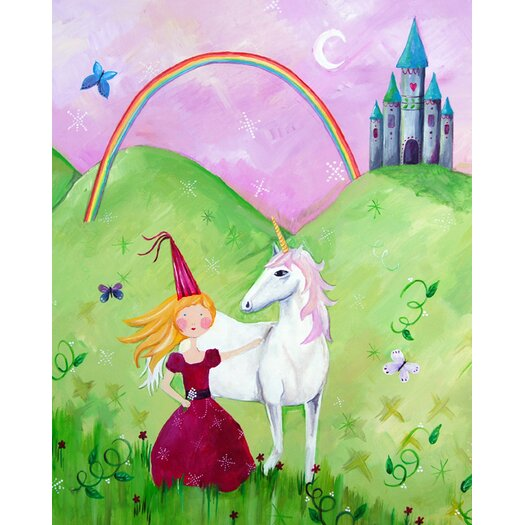 Cici Art Factory Wit & Whimsy Princess Blonde Canvas Art