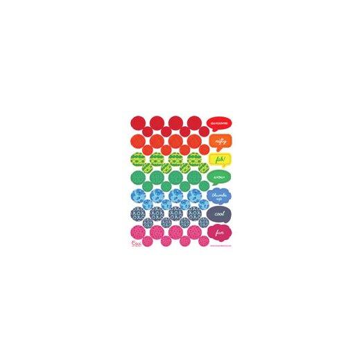CiCi Art Factory Patchwork Art Corners Word Bubbles Paper Print