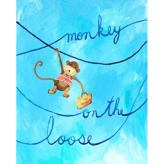 Cici Art Factory Words of Wisdom Monkey on The Loose Paper Print