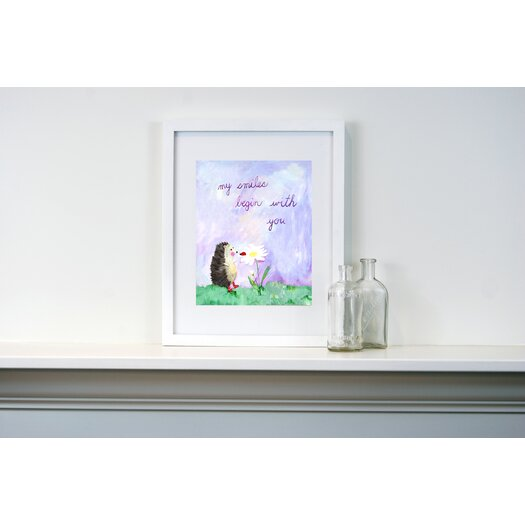 CiCi Art Factory Words of Wisdom My Smiles Begin with You Paper Print