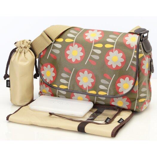 OiOi Retro Messenger Diaper Bag
