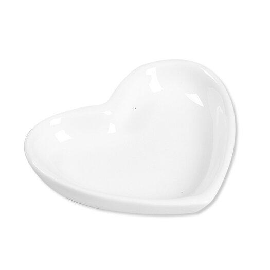 Ooga Studio White Heart Platter