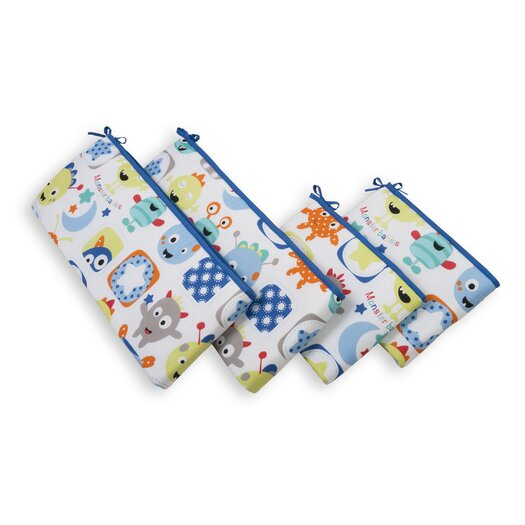 Sumersault Monster Babies 4 Piece Bumper Set