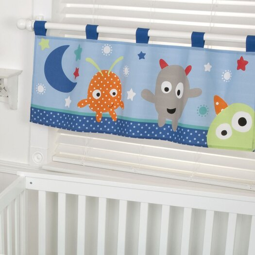 "Sumersault Monster Babies 44"" Window Curtain Valance"