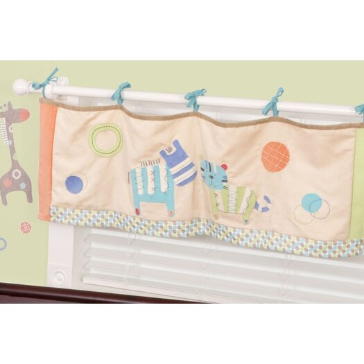 "Sumersault Animal Spots and Stripes 44"" Curtain Valance"