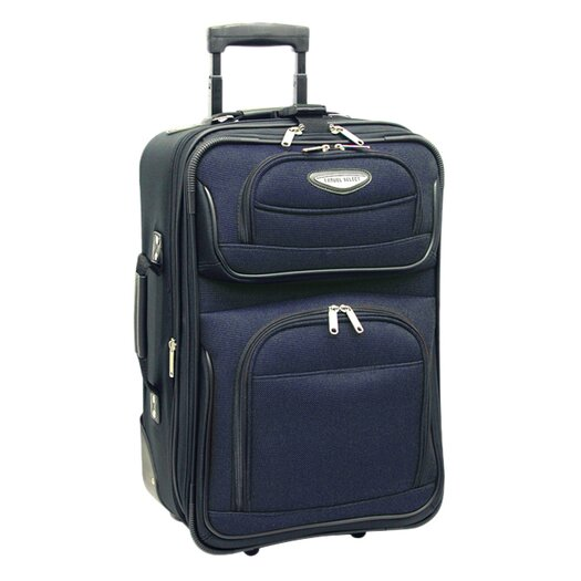 """Traveler's Choice Amsterdam 21"""" Expandable Rolling Carry On I"""