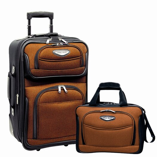 Traveler's Choice Amsterdam 2 Piece Carry-On Luggage Set
