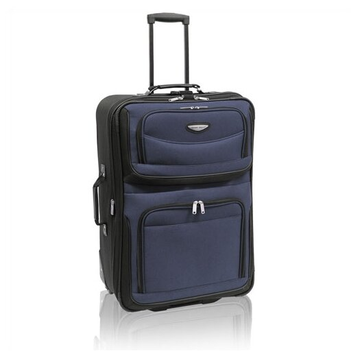 """Traveler's Choice Amsterdam 25"""" Two-Tone Expandable Rolling Suitcase"""