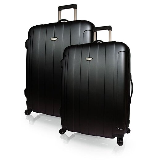 Traveler's Choice Rome Hard-Shell Spinner 2 Piece Luggage Set