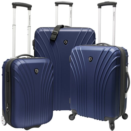 Traveler's Choice Johnson 3 Piece Hardsided Expandable Luggage Set