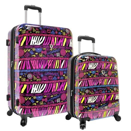 Traveler's Choice Bohemian 2 Piece Hardside Expandable Luggage Set