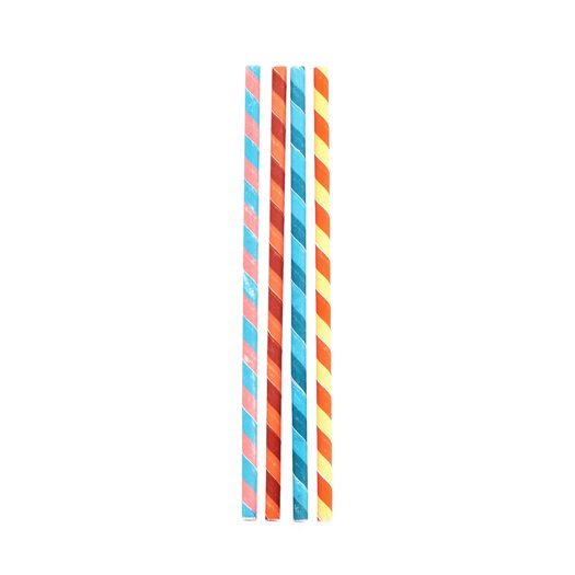 Kikkerland Striped Paper Straws Color Stripes Paper Straws
