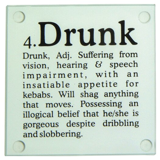 Kikkerland Drunk? Glass Coaster