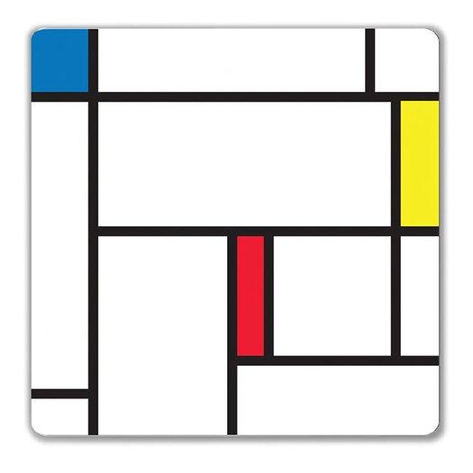 Kikkerland Magnetic Large Color Block Wipe Dry Erase Board